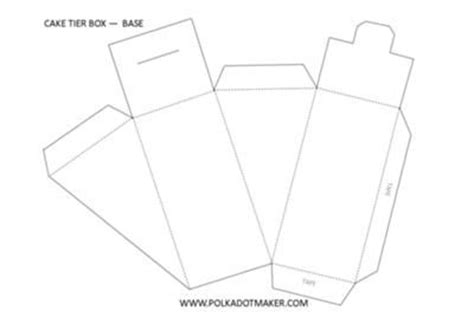 three tier cake slice box templates with the three tier