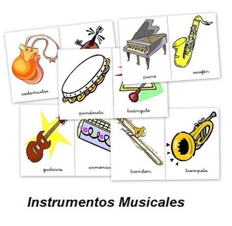 imagenes musicales con niños fichas y sonidos de instrumentos musicales