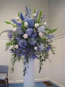 hydrangea delphinium bells of ireland agapanthus blue