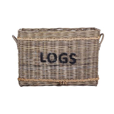 Log Basket For Fireplace by Buy Garden Trading Rope And Rattan Log Basket Amara
