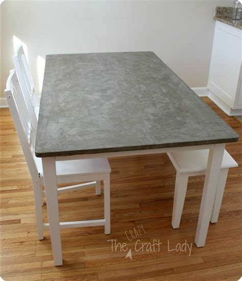 cement top dining table diy concrete top dining table
