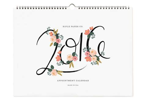 Calendar Covers 2016 2016 rifle paper co calendars paper luxe stationery gifts