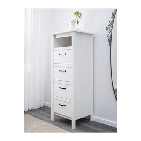 Brusali Dresser by Brusali Chest Of 4 Drawers White 51x134 Cm