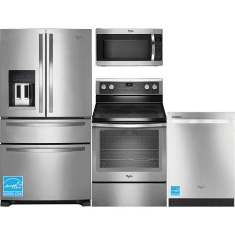 whirlpool kitchen appliance package whirlpool wrx735sdbm ss stainless steel complete kitchen