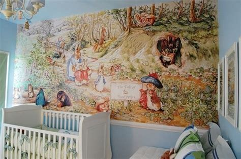 Beatrix Potter Nursery Decor For The Nursery Beatrix Potter Mural Once In A Blue Moon Pintere
