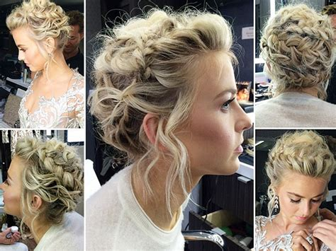 how to the famous julianne hough updo julianne hough s braids on dwts get the look