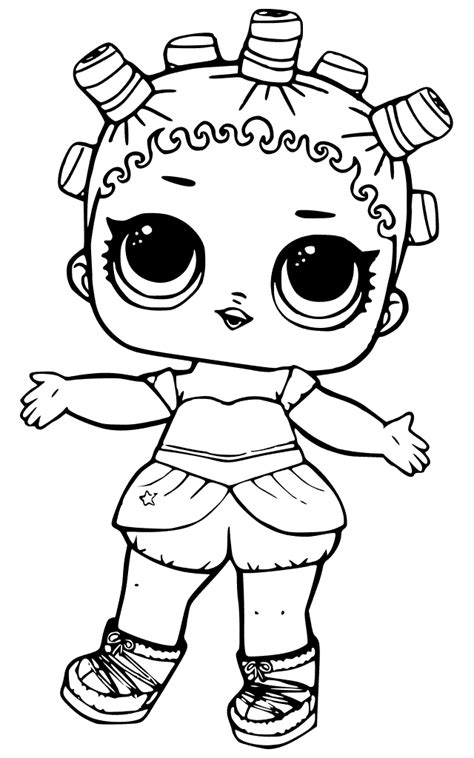 free printable lol dolls coloring pages