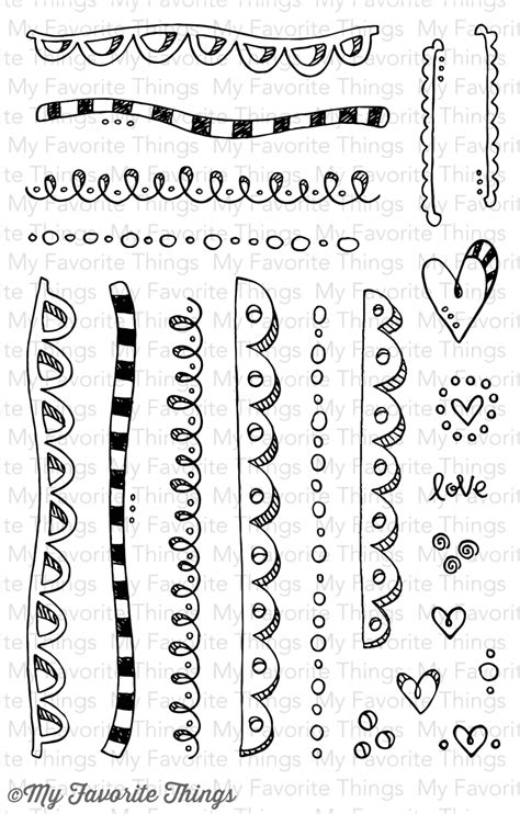 doodle border ideas 4 days until the february release