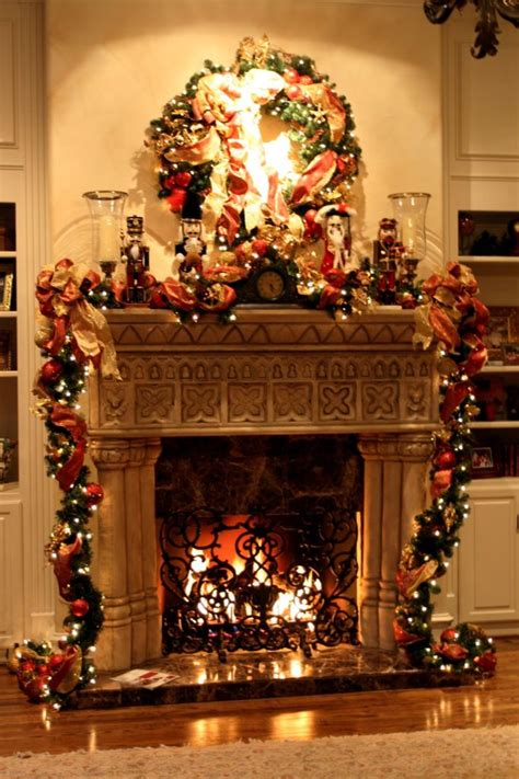 superior Xmas Mantelpiece Decoration Ideas #8: Fireplace-Mantel-Christmas-Decorating.jpg