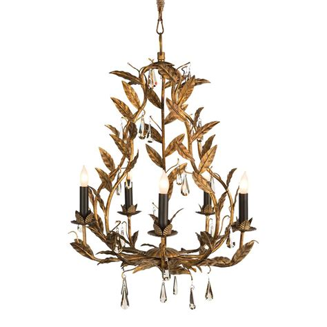 Crystal Chandelier On Sale Palmier French Country Rustic Gold Leaves Chandelier