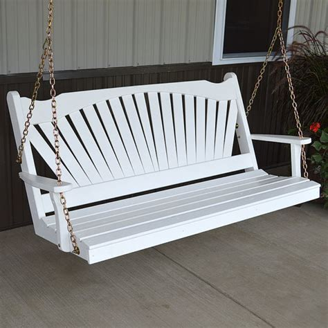 porch swing cushions 5ft yellow pine fanback 5ft outdoor porch swing
