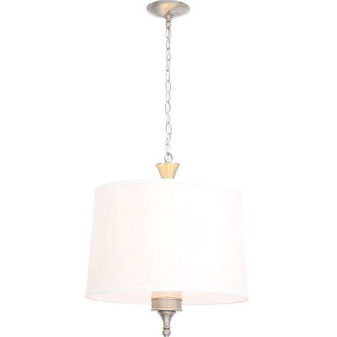 3 light hanging pendant hton bay towne 3 light brushed nickel hanging pendant