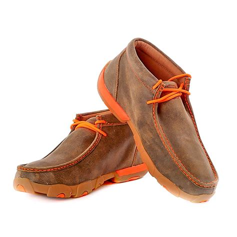 twisted x shoes for twisted x s driving moccasin with orange trim