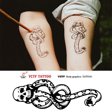 online temporary tattoo maker harry potter temporary tattoo stickers waterproof arm art