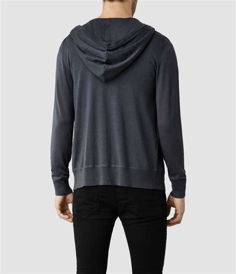 Hoodie Zipper Marine One Brothersapparel allsaints mode merino zip hoody in gray for lyst