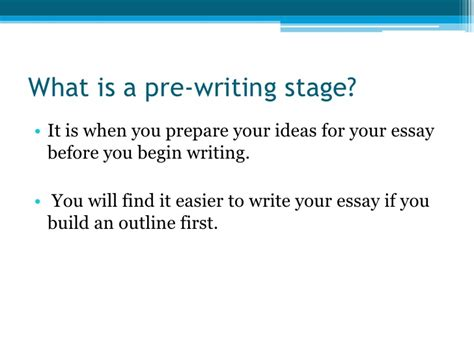What Is A Essay by Essay Pre Writing Steps