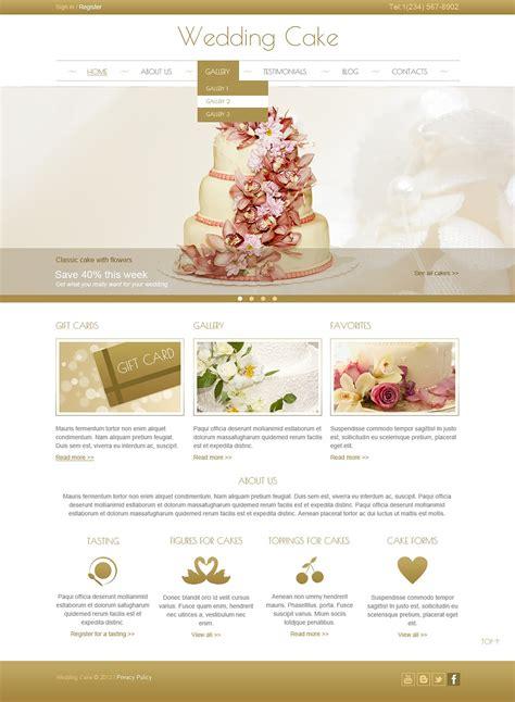 cream wedding cake joomla template 44444