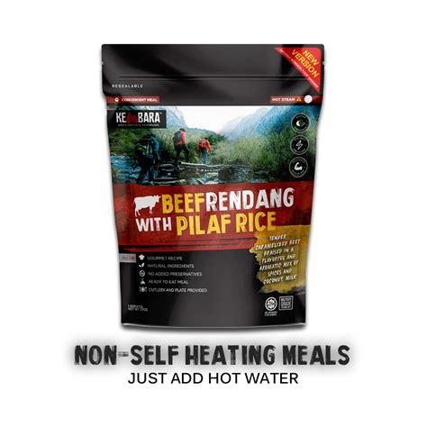 kembara   heating beef rendang pilaf rice