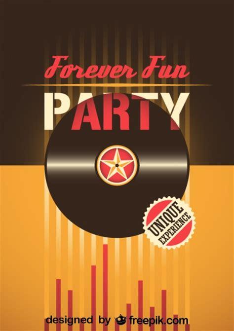 retro party poster  vector