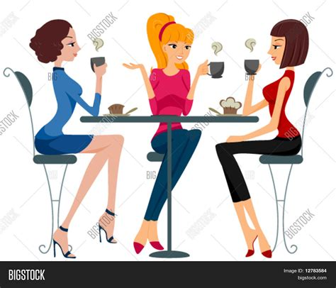 imagenes animadas tomando cafe vector y foto mujeres tomando caf 233 vector bigstock