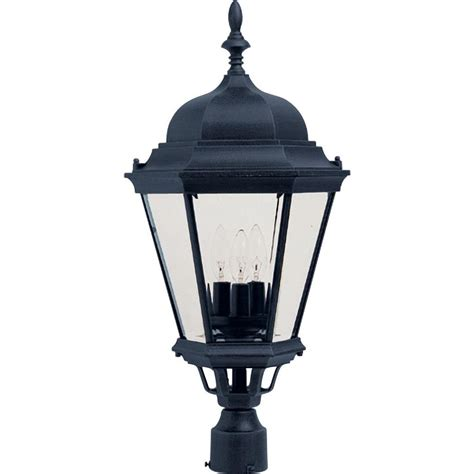 landscape lighting accessories home decorators collection wilkerson 1 light black outdoor post mount 23456 the home depot