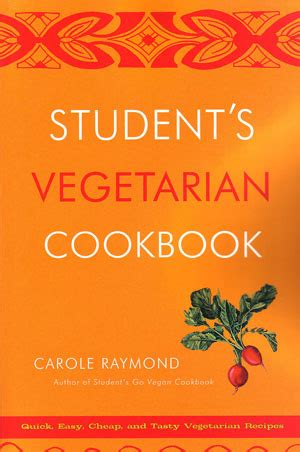 vegetarian student cookbook recipes 173 supervision required running in chucks