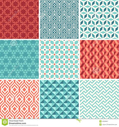 seamless pattern collection oriental seamless pattern collection stock vector