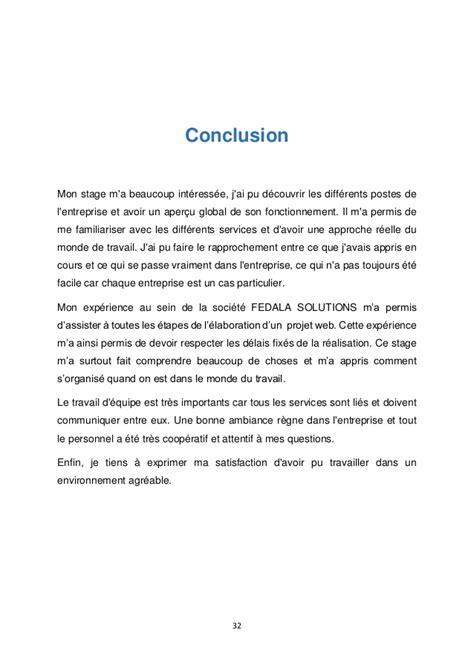 modele rapport de stage conclusion document