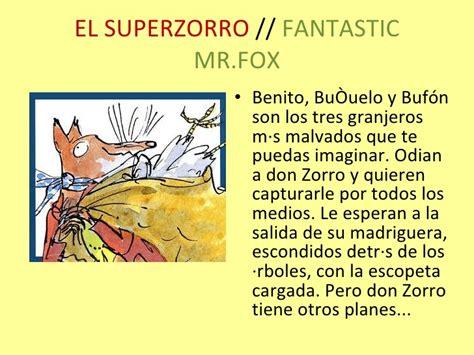 libro el superzorro fantastic roald dahl