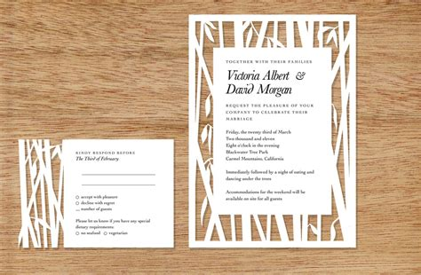 Wedding Cut Out by Bamboo Cutout Wedding Invitations Onewed