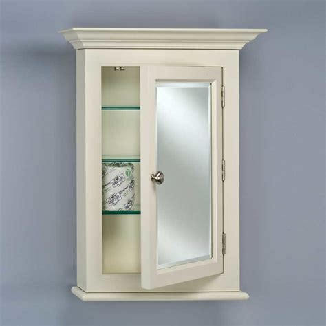 B L Cabinets by Afina Wilshire 25 Quot Semi Recessed Mirrored Medicine Cabinet