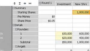 Capitalization Table Template by Capitalization Table Template Ebook Database