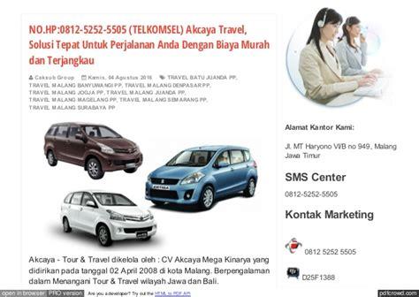 Travel Sigma Madiun Malang No Hp 0812 5252 5505 Travel Malang Madiun Malam