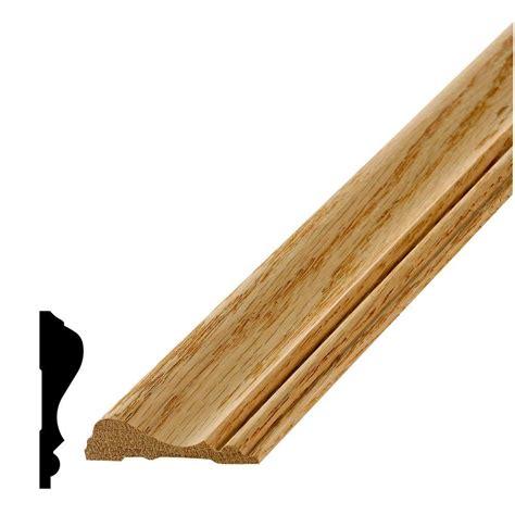 oak chair rail alexandria moulding lwm 390 5 8 in x 2 1 2 in oak chair