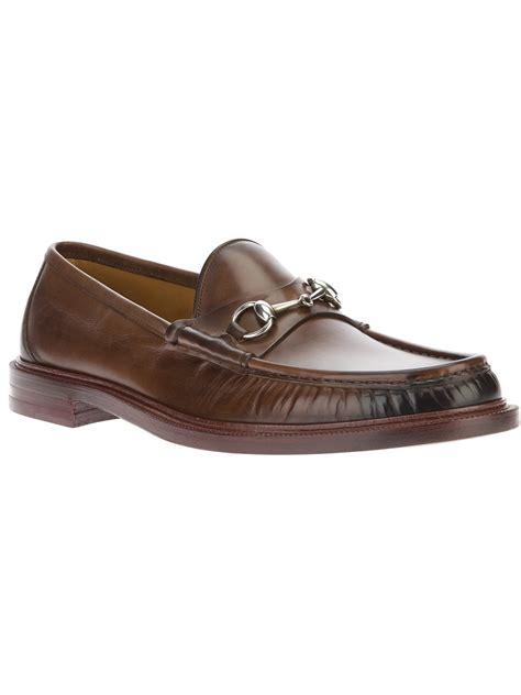 gucci bit loafers gucci bit loafer in brown for lyst