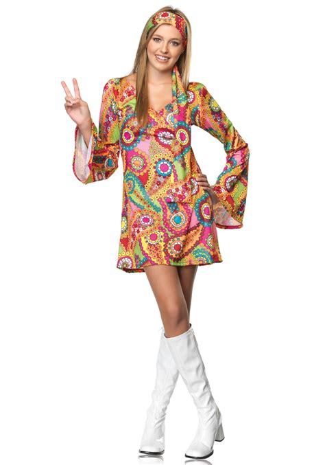 girls flower power hippie costume halloweencostumescom 60s teen