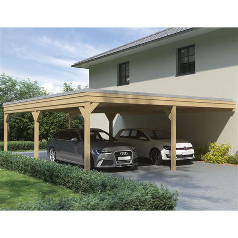 leimholz carport carport flachdach leimholz holz 7x5 m 700x500 cm