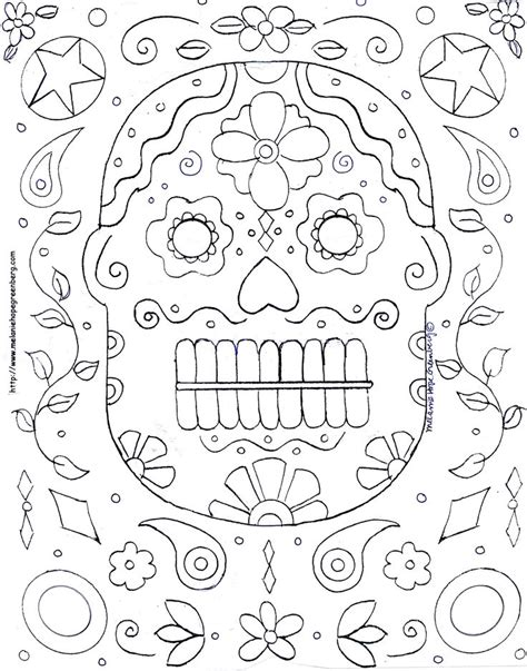day of the dead coloring page mexico pinterest