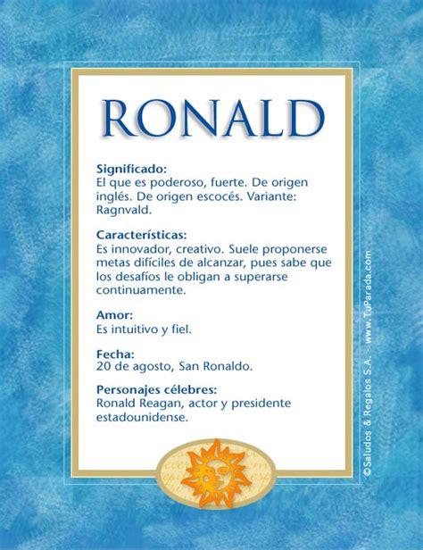 imagenes de te extraño ronald ronald significado del nombre ronald nombres