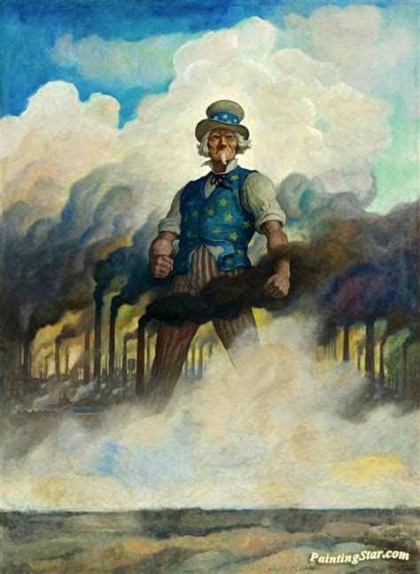 Painting C by We Re On Our Way Artwork By Newell Convers N C Wyeth