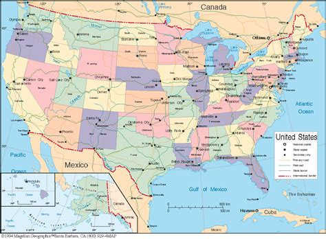 usa map political states maps united states map political