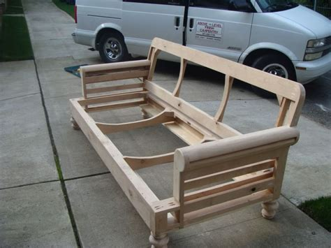 how to make a couch frame building a quot club couch quot from scratch