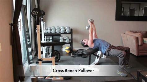 single dumbbell pullover across bench dumbbell back exercises cross bench pullover youtube