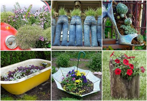 Gardening Club Ideas 20 Out Of The Ordinary Recycled Garden Planters Garden Club