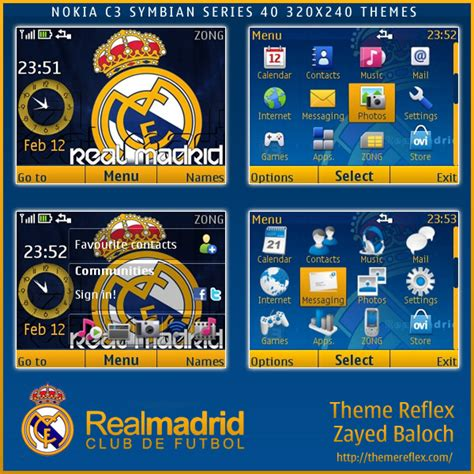 themes mozilla firefox real madrid real madrid theme for nokia c3 x2 01 themereflex