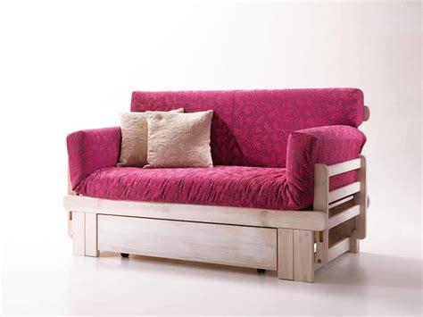 divanetti in stile divano letto rustico in legno con contenitore idfdesign