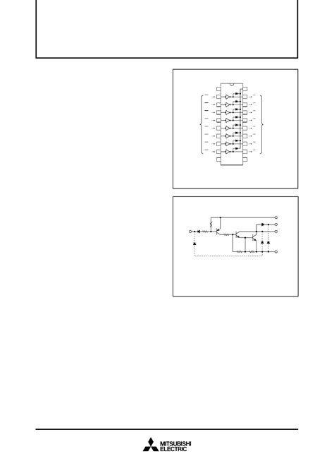 application of the ca3018 integrated circuit transistor array m54587p datasheet pdf даташит mitsubishi