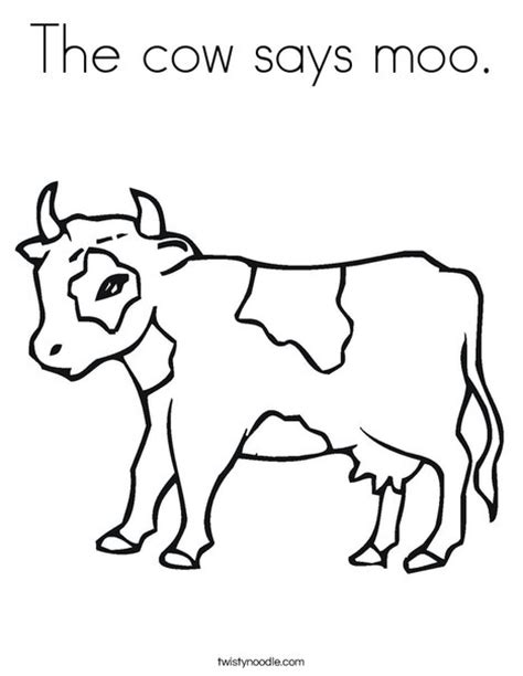 The Cow Says Moo Coloring Page Twisty Noodle Click Clack Moo Cows That Type Coloring Pages