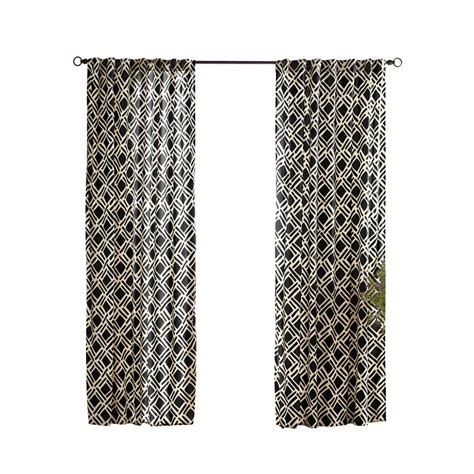 outdoor curtains lowes shop solaris 108 in l black trellis outdoor window curtain
