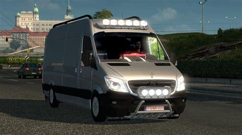 game modding euro truck simulator mods ets2 mercedes sprinter long 2015 v0 9 beta simulator